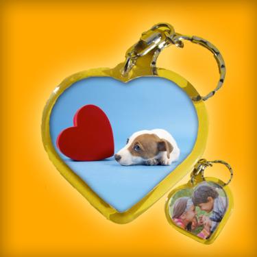 Szív alakú kulcstartó