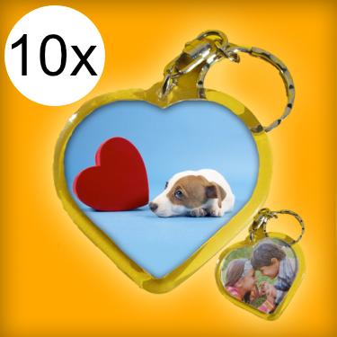 Extra családi csomag - szív kulcstartók (10 db kulcstartó)