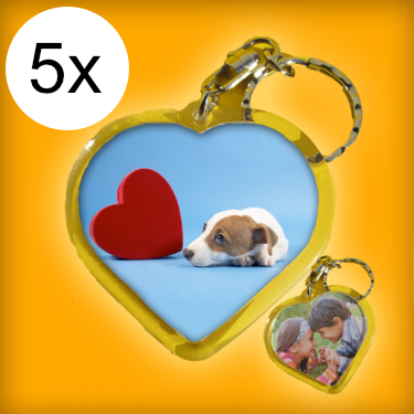 Családi csomag - szív kulcstartók (5 db kulcstartó)